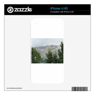 Panoramic mountain view decal for the iPhone 4S