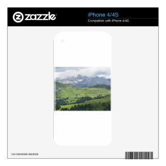 Panoramic mountain view decals for iPhone 4