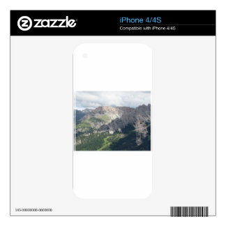 Panoramic mountain view decals for iPhone 4S