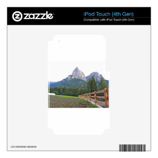Panoramic mountain view decals for iPod touch 4G