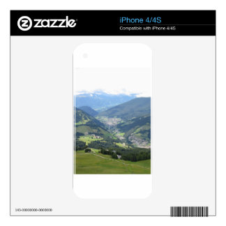 Panoramic mountain view decals for the iPhone 4
