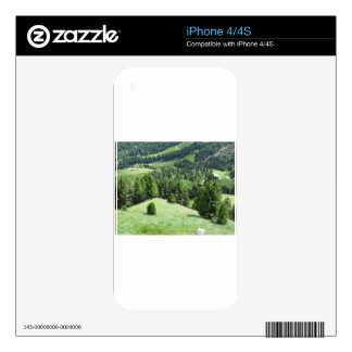 Panoramic mountain view decals for the iPhone 4S