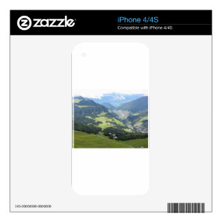 Panoramic mountain view iPhone 4 decals