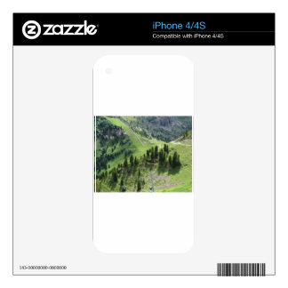 Panoramic mountain view iPhone 4S decals