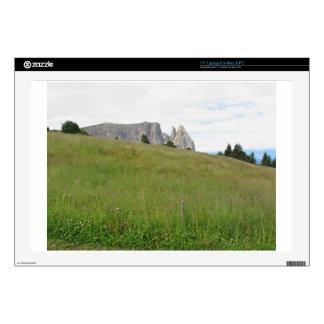 Panoramic mountain view laptop skin