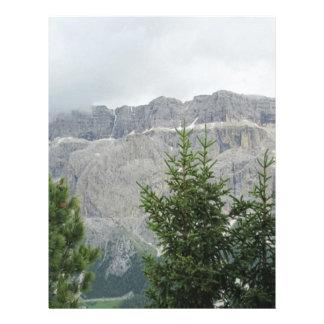 Panoramic mountain view letterhead