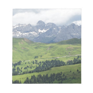 Panoramic mountain view note pad