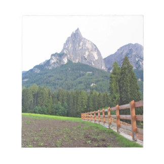Panoramic mountain view notepad