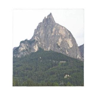 Panoramic mountain view notepad