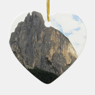 Panoramic mountain view of the Dolomites Ceramic Ornament