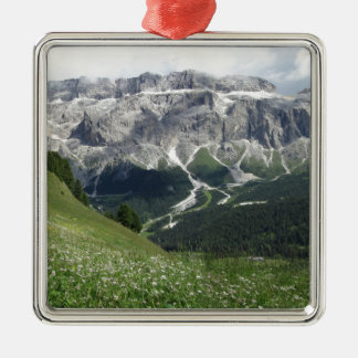 Panoramic mountain view of the Dolomites Metal Ornament