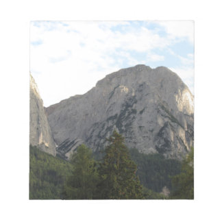 Panoramic mountain view of the Dolomites Notepad