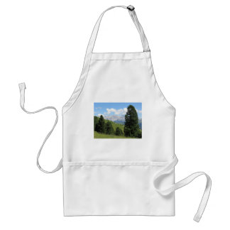 Panoramic mountain view of the italian Dolomites Adult Apron