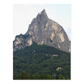Panoramic mountain view postcard