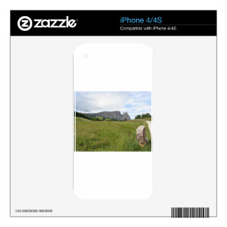 Panoramic mountain view skin for iPhone 4
