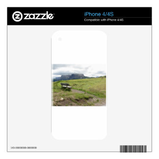 Panoramic mountain view skin for the iPhone 4