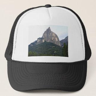 Panoramic mountain view trucker hat