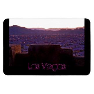 Panoramic Mountains Las Vegas View Flexible Magnet