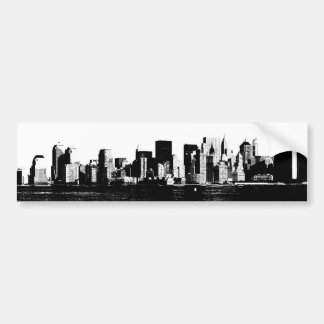 Panoramic New York City Bumper Sticker Car Bumper Sticker