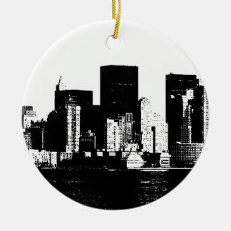 Panoramic New York City Ceramic Ornament
