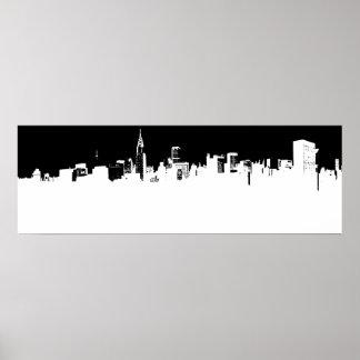 Panoramic New York City Pop Art Poster