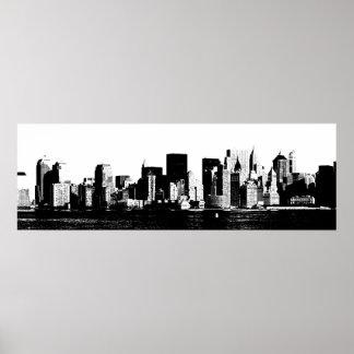 Panoramic New York City Poster