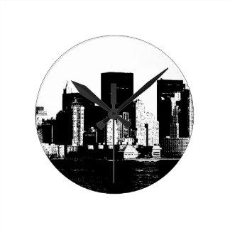 Panoramic New York City Round Clock