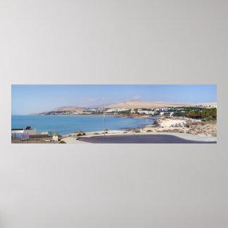 Panoramic of Barren Coast, in Fuerteventura Poster