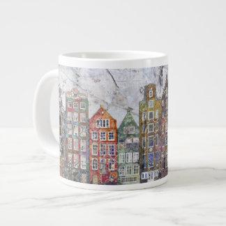 Panoramic of Dutch Row Houses Large Coffee Mug