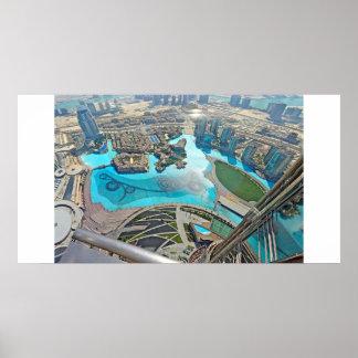 Panoramic of Khalifa Park atop the Burj Khalifa Poster