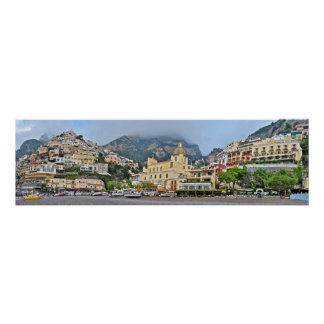 Panoramic of Positano, Italy Poster
