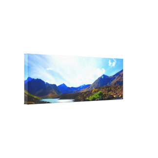Panoramic of Symphony Lake, Eagle River, Alaska Canvas Print
