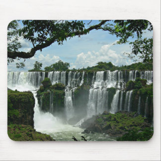 Panoramic Of The Iguazu Falls Mouse Pad