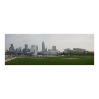 Panoramic Painting poster of Cleveland Ohio