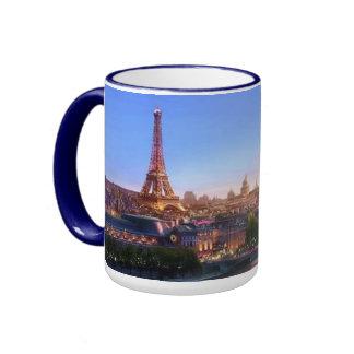Panoramic Paris Ringer Mug