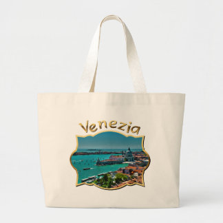 Panoramic Picture of Venice, Italy Large Tote Bag