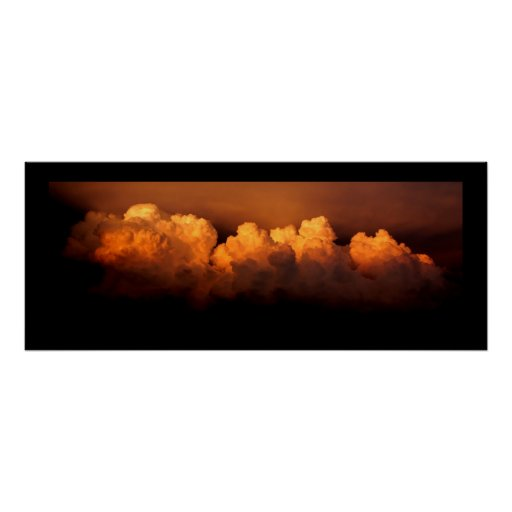 """Panoramic poster, Stormy clouds size 34""""x13.78"""""""