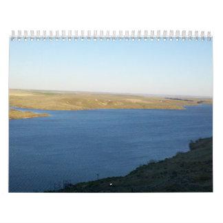 Panoramic River High Rise Canyon Wall Overlook Calendar
