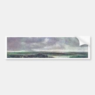 Panoramic River Landscape., Nederlands, Car Bumper Sticker