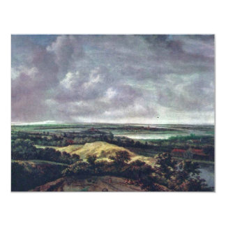Panoramic River Landscape., Nederlands, 4.25x5.5 Paper Invitation Card