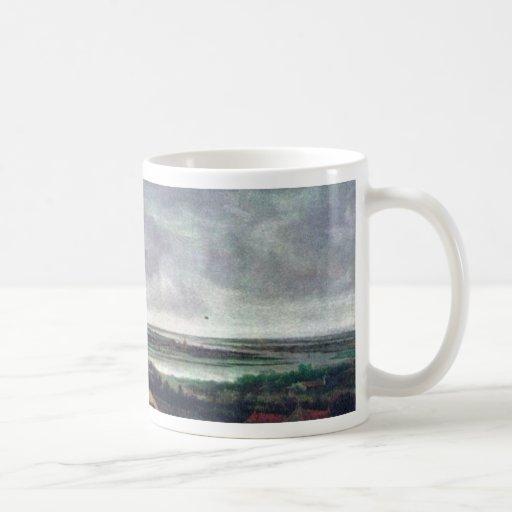 Panoramic River Landscape., Nederlands, Classic White Coffee Mug