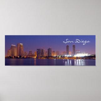 Panoramic San Diego Skyline Poster