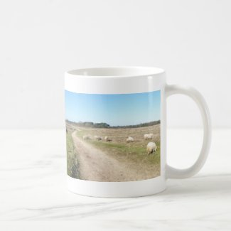 Panoramic Sheep Heathland Mug
