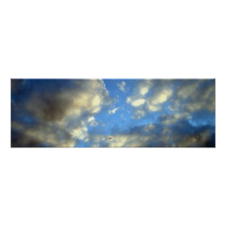 Panoramic Storm Clouds Print Poster