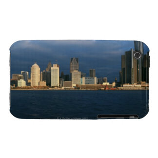'Panoramic sunrise view of Renaissance Center, iPhone 3 Covers