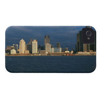'Panoramic sunrise view of Renaissance Center, iPhone 4 Covers
