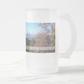 Panoramic tetons coffee mug
