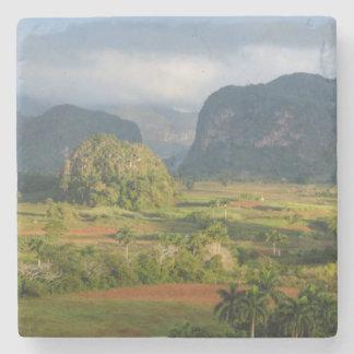 Panoramic valley landscape, Cuba Stone Coaster