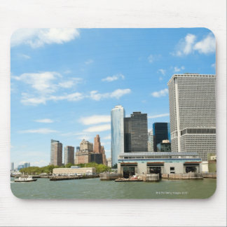 Panoramic view at skyscrapers and Battery park Mouse Pad