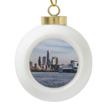 Panoramic View Dock Buenos Aires, Argentina Ceramic Ball Christmas Ornament